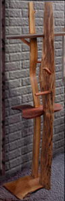 thumbnail photograph of wooden coat rack by Lawrence Kinney